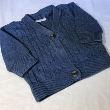 0-1 Month Blue Cardigan